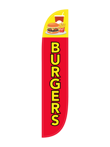 Burgers Feather Flag