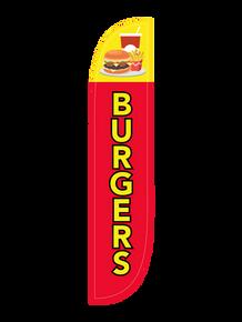 Burgers Feather Flag