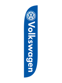 Volkswagen Blue Feather Flag
