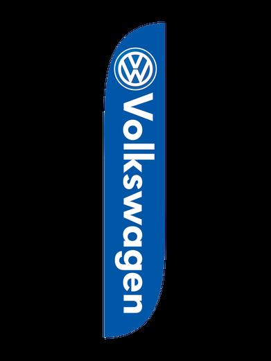 Volkswagen Blue Feather Flag