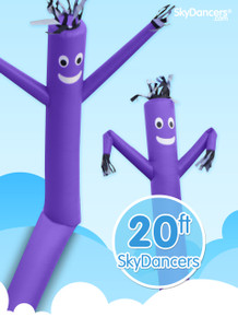 20ft SkyDancer® Purple Inflatable Advertising Product - B