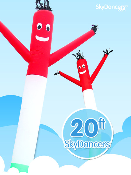 Sky Dancers Red, White & Green - 20ft
