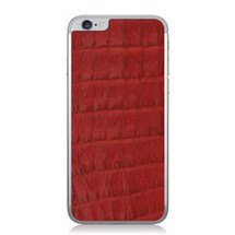 iPhone 6 Back Genuine Crocodile Red