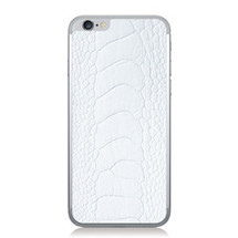 iPhone 6 Back Genuine Ostrich Leg White