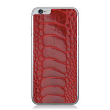 iPhone 6 Back Genuine Ostrich Leg Red Glazed