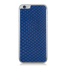 iPhone 6 Back Genuine Python Cobalt - Small Scale