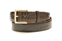 Genuine Alligator Belt Glazed Brown