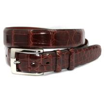 Genuine Alligator Belt Glazed Cognac