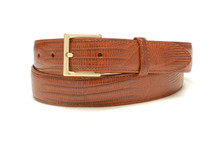 Genuine Lizard Belt Glazed Peanut