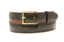 Genuine Crocodile Belt Glazed Brown