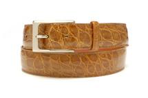 Genuine Crocodile Belt Glazed Cognac