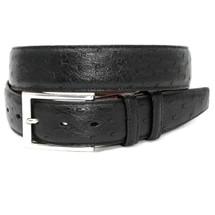 Genuine Ostrich Belt Matte Black