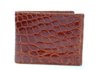 Slimfold Genuine Alligator Wallet Glazed Cognac