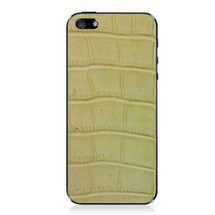 iPhone 5 Back Genuine Alligator Blonde