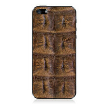 iPhone 5 Back Genuine Crocodile Backstrap Brown