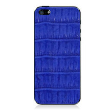 iPhone 5 Back Genuine Crocodile Cobalt