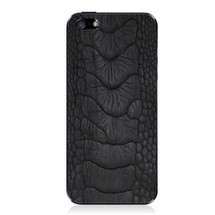 iPhone 5 Back Genuine Ostrich Leg Black Matte
