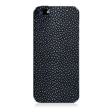 iPhone 5 Back Genuine Stingray Navy Polished