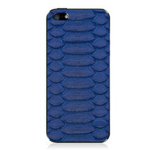 iPhone 5 Back Genuine Python Cobalt