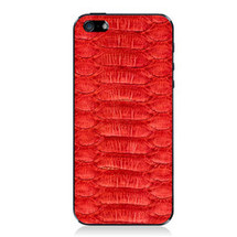 iPhone 5 Back Genuine Python Red