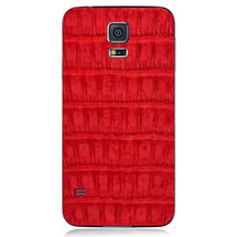 Samsung Galaxy S5 Back Genuine Crocodile Red