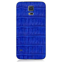 Samsung Galaxy S5 Back Genuine Crocodile Cobalt