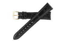 Genuine Crocodile Watch Band Black