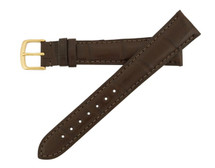 Genuine Alligator Watch Band Matte Brown - Cartier Style