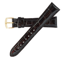 Genuine Alligator Watch Band Glazed Black