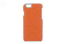 iPhone 6/6S Case Genuine Python Orange
