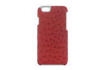 iPhone 6/6S Case Genuine Ostrich Red
