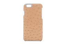 iPhone 6/6S Case Genuine Ostrich Wheat
