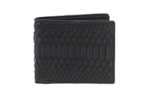 Hipster Genuine Python Wallet Matte Black