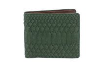 Hipster Genuine Python Wallet Matte Evergreen