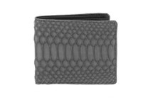 Hipster Genuine Python Wallet Matte Grey