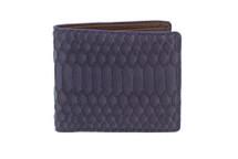 Hipster Genuine Python Wallet Matte Purple