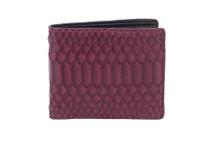 Hipster Genuine Python Wallet Matte Violet