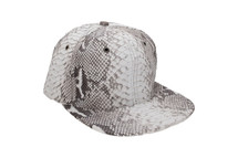 Genuine Python Hat Natural Gunmetal