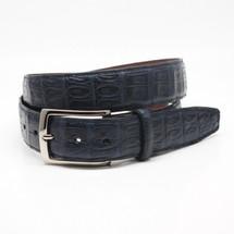 Genuine Caiman Belt Matte Navy