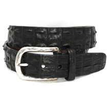 Genuine Hornback Crocodile Belt Black