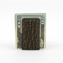 Genuine Elephant Magnetic Money Clip Cognac
