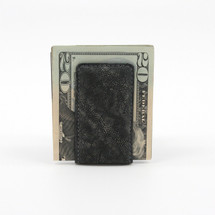 Genuine Elephant Magnetic Money Clip Charcoal