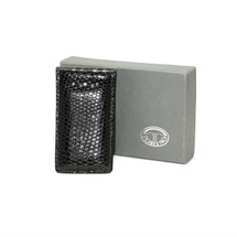 Genuine Lizard Magnetic Money Clip Glazed Black