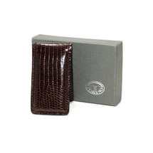 Genuine Lizard Magnetic Money Clip Glazed Brown