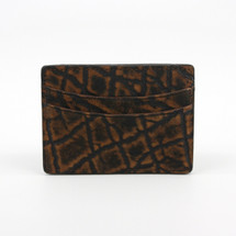 Genuine Elephant Card Case Cognac