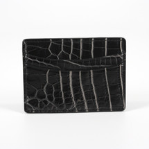 Genuine Crocodile Card Case Black/White