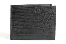 Slimfold Genuine Crocodile Wallet Matte Black