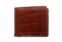 Hipster Genuine Alligator Wallet Glazed Cognac