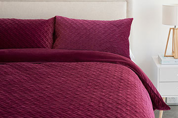 Velluto Velvet Embroidered Reversible Bedding
