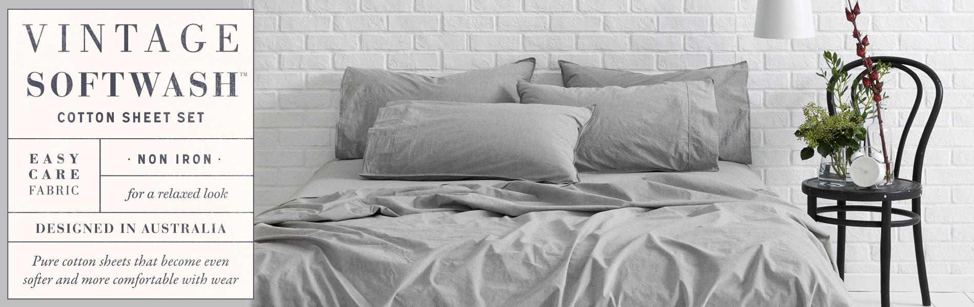 Vintage Softwash Cotton Sheet Set